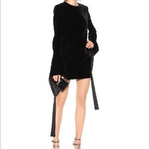 Saint Laurent Wide Sleeve Velvet Dress new